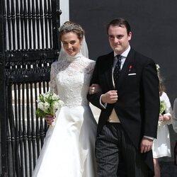 Jaime de Borbón-Dos Sicilias y Lady Charlotte Lindesay-Bethune en su boda
