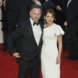 Geri Halliwell y Christopher Horner en el estreno de 'Sin tiempo para morir'