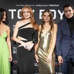 María Pedraza, Cristina Castaño, Federica Sabatini y Álex González en la presentación de la segunda temporada de 'Toy Boy'