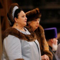 María Romanov en la boda de Jorge Romanov y Rebecca Bettarini