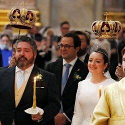 Jorge Romanov y Rebecca Bettarini en su boda