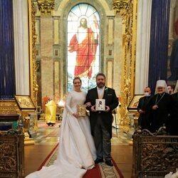 Jorge Romanov y Rebecca Bettarini el día de su boda