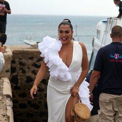 Amor Romeira en la boda de Anabel Pantoja y Omar Sánchez
