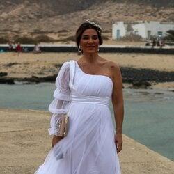 Raquel Bollo en la boda de Anabel Pantoja y Omar Sánchez