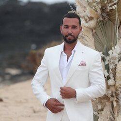 Omar Sánchez en su boda con Anabel Pantoja