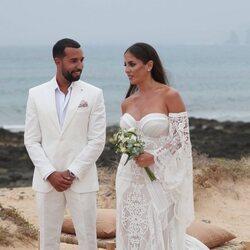 Anabel Pantoja y Omar Sánchez el día de su boda