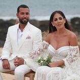 Anabel Pantoja y Omar Sánchez en su boda