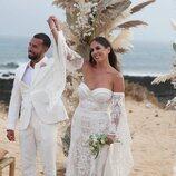 Anabel Pantoja y Omar Sánchez de recién casados en La Graciosa
