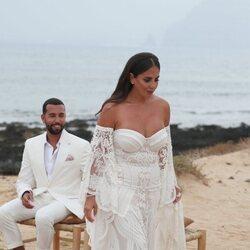Anabel Pantoja, emocionada el día de su boda