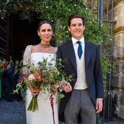 Claudia Osborne y José Entrecanales tras convertirse en marido y mujer