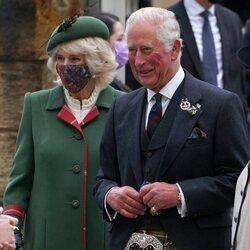 El Príncipe Carlos y Camilla Parker en la sesión inaugural del Parlamento de Escocia