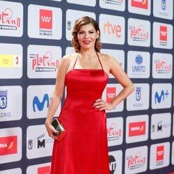 Ivonne Reyes en la alfombra roja de los Premios Platino 2021