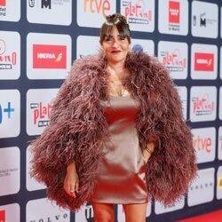 Candela Peña en la alfombra roja de los Premios Platino 2021