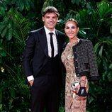 Fernando Morientes y su mujer Victoria Lópezen la fiesta de los Premios Platino 2021