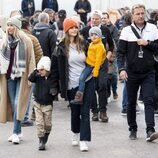 Sofia de Suecia y sus hijos Alejandro y Gabriel de Suecia en la Porsche Carrera Cup Scandinavia 2021
