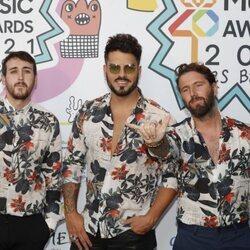El grupo Bombai en la cena de nominados de Los 40 Music Awards 2021