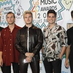 Dvicio en la cena de nominados de Los 40 Music Awards 2021