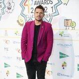 Dani Martín posando en la cena de nominados de Los 40 Music Awards 2021