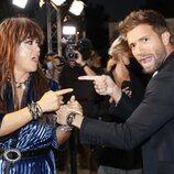 Pablo Alborán y Vanesa Martín en la cena de nominados de Los 40 Music Awards 2021