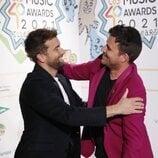 Pablo Alborán y Dani Martín en la cena de nominados de Los 40 Music Awards 2021