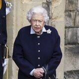 La Reina Isabel en la recepción al Regimiento Real de Artillería Canadiense en Windsor Castle