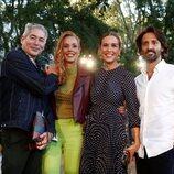 Boris Izaguirre, Rocío Carrasco, Raquel Sánchez Silva y Matías Dumont en el desfile de Palomo Spain