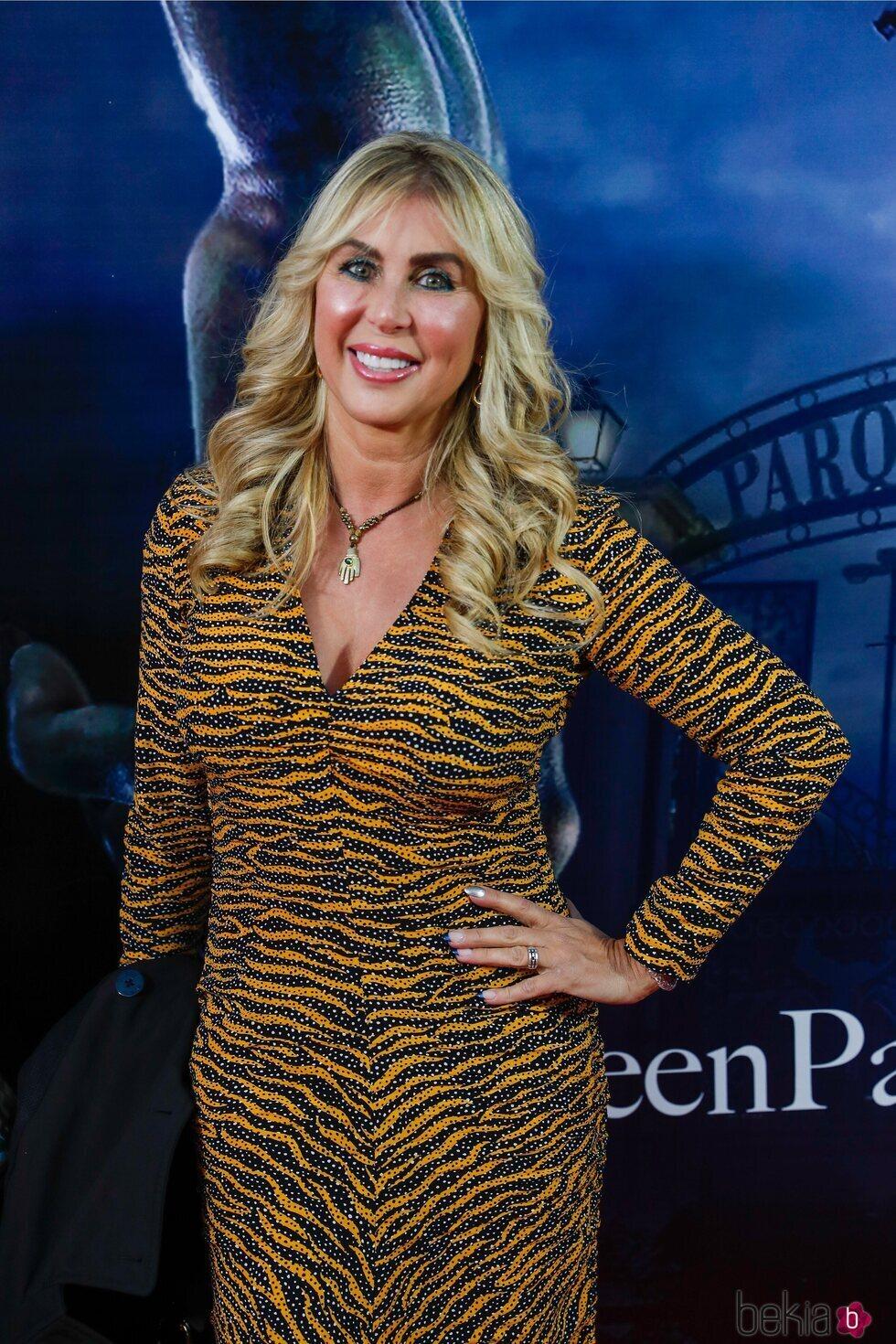 Malena Gracia en la fiesta de Halloween del Parque de Atracciones de Madrid 2021