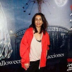 La cantante Bebe en la fiesta de Halloween del Parque de Atracciones de Madrid 2021