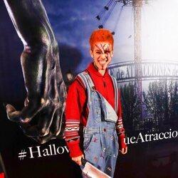 Hugo Cobo en la fiesta de Halloween del Parque de Atracciones de Madrid 2021
