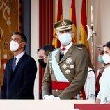 Los Reyes Felipe y Letizia y Pedro Sánchez en el Día de la Hispanidad 2021