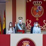 Los Reyes Felipe y Letizia y la Infanta Sofía en el Desfile Militar del Día de la Hispanidad 2021