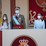 Los Reyes Felipe y Letizia y la Infanta Sofía en el Día de la Hispanidad 2021