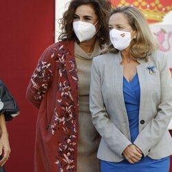 María Jesús Montero y Nadia Calviño en el Día de la Hispanidad 2021