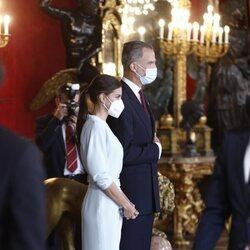 Los Reyes Felipe y Letizia en la recepción del Día de la Hispanidad 2021