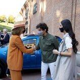 La Infanta Elena saluda a Tomás Páramo en presencia de Victoria Federica en Las Ventas