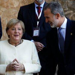 El Rey Felipe y Angela Merkel en el Monasterio de Yuste  en la XIV Edición del Premio Europeo Carlos V