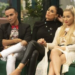 Luis Rollán, Isabel Rábago y Emmy Russ durante la gala 5 de 'Secret Story'