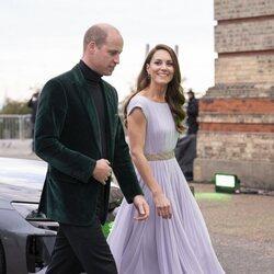 El Príncipe Guillermo y Kate Middleton a su llegada a los Premios Earthshot 2021