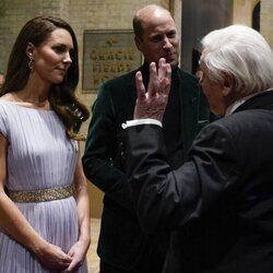 El Príncipe Guillermo y Kate Middleton con David Attenborough en los Premios Earthshot 2021