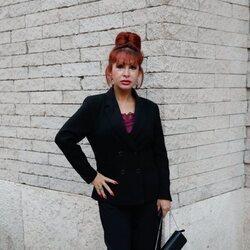 Yurena en la misa funeral de Begoña Sierra, fundadora del Bingo Las Vegas