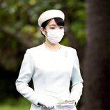 Mako de Japón en los Tres Santuarios del Palacio Imperial de Tokyo antes de su boda