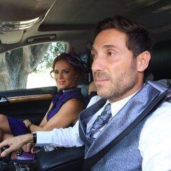 Antonio David Flores y Olga Moreno en la boda de Ortega Cano y Ana María Aldón