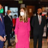 La Princesa Leonor y Adrián Barbón en el Concierto Premios Princesa de Asturias 2021