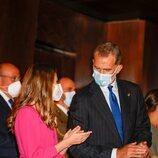 El Rey Felipe y la Princesa Leonor durante la celebración del Concierto Premios Princesa de Asturias 2021