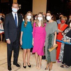 Los Reyes Felipe y Letizia, la Princesa Leonor y la Infanta Sofía en el Concierto Premios Princesa de Asturias 2021 en Oviedo