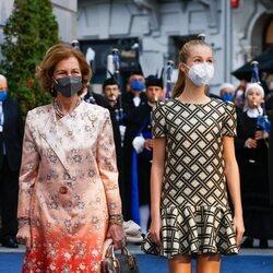 La Reina Sofía y la Princesa Leonor en los Premios Princesa de Asturias 2021