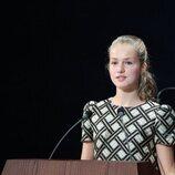 La Princesa Leonor durante su discurso en los Premios Princesa de Asturias 2021