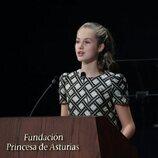 La Princesa Leonor en su discurso en la entrega de los Premios Princesa de Asturias 2021
