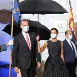 Los Reyes Felipe y Letizia tras la gala de los Premios Princesa de Asturias 2021