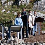 Los Reyes Felipe y Letizia, la Princesa Leonor y la Infanta Sofía en el mirador de Santa María del Puerto, Pueblo Ejemplar 2021